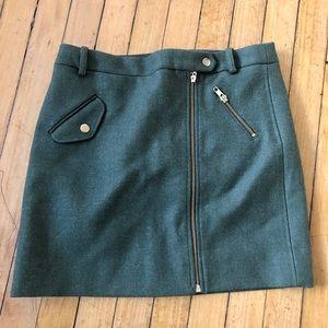 Green wool mini dress